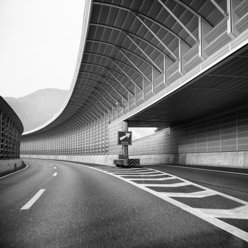 Autoroute A2 Bisonne, protection contre le bruit, 2018. Photo JM Yersin